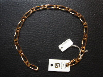 Very Beautiful Vintage Bracelet 1970 Gold Plated 11 Grs New / New/Old 6 7/8in