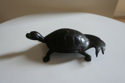 Antique Chinese Bronze Dragon Turtle Feng Shui
