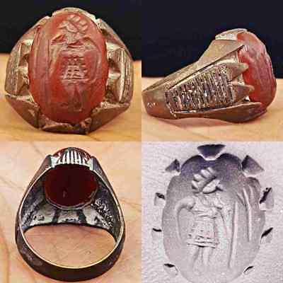 Wonderful old Agate intaglio Seal stone Ring