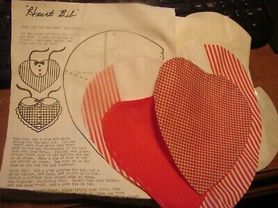Vintage Heart Bib Pattern for Boys & Girls Kit Directions, templates & pieces