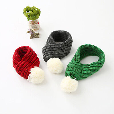 Cute Winter Warm Pet Cat Dog Knitted Scarf Christmas Outfit Ornaments SI