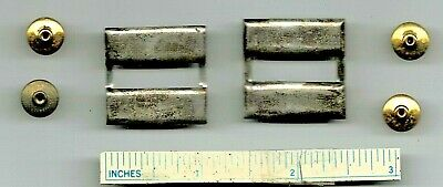 Pair WW2 Sterling Silver CAPTAIN BARS WWII Insignia US Army USMC USAAF USN USA