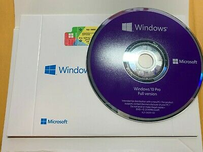 Microsoft Windows 10 Professional 64 bit pro product key and dvd brand new