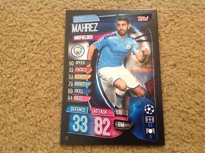 Match Attax 19/20 Riyad Mahrez Man City base card Mint New Rare POST FREE in UK