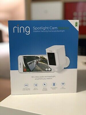 Ring Spotlight Cam Battery Security Camera - White - Brand New - Never Used