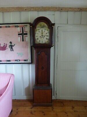Antique Long case Grandfather Clock, West Country, Oak, needs some restoration