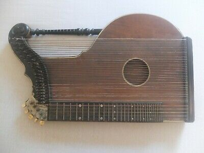 Alte Zither Harfenzither Antikes Instrument