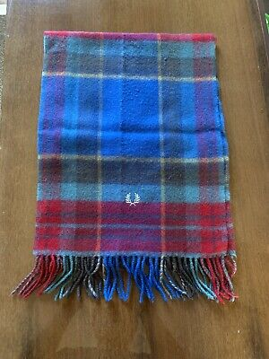 Fred Perry Merino Wool Check Scarf