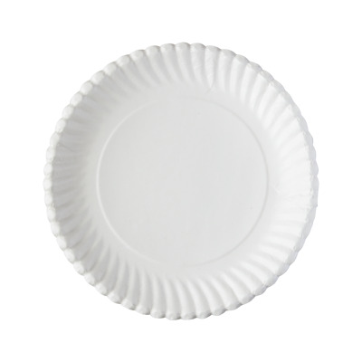 """Food Grade Catering Quality White Disposable Paper Plates 7'' 9"""""""