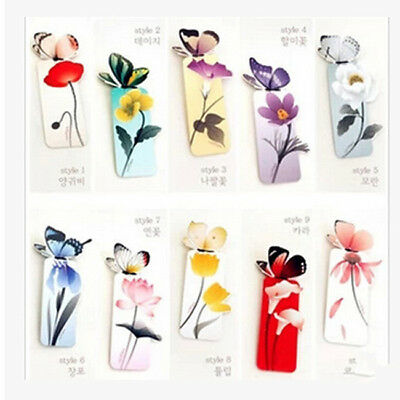 5Pcs 3D Butterfly Paper Bookmark Book Markers Exquisite Wings Open Decor ON SALE