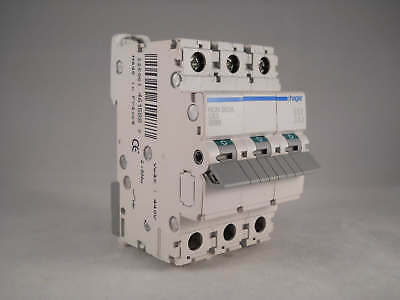 Hager MCB 63 Amp Triple Pole 3 Phase Circuit Breaker Type C 63A NCN363A