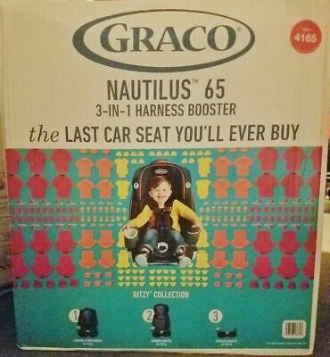 Graco Nautilus 65 3-in-1 Harness Booster Convertible Car Seat, New