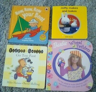 Toddler And Baby Board Books including Miffy,& Barbie,