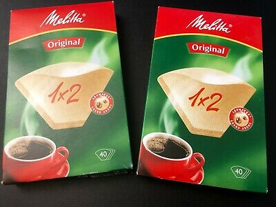Melitta Original 1 x 2 Two Cup Coffee Filter Papers (40 in pack) + 16 in opened
