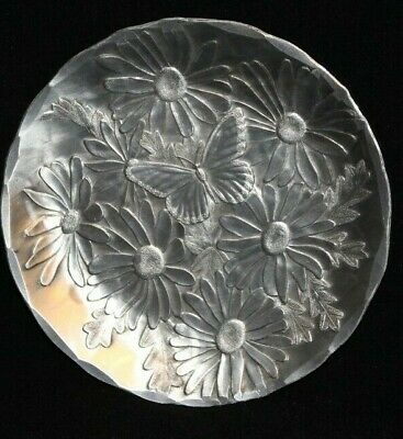 Wendell August Forge Coaster Butterfly Daisy Hand-Hammered Aluminum