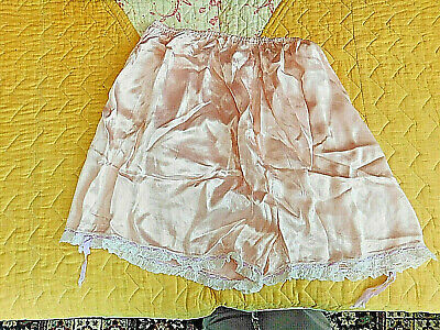 Vintage Pink Satin French Knickers circa 1940