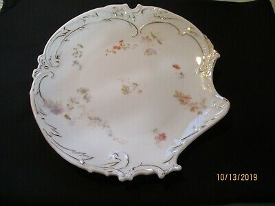 """ANTIQUE R C SAVOY GERMANY Ornate Embossed Floral w Gold 8 1/2"""" Cabinet Plate"""