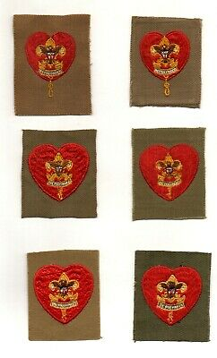 Boy Scouts Life Rank Insignia - Set of 6 Vintage