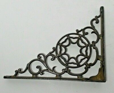 "Antique Cast Iron Corbel Corner Bracket 6 7/8"" x 8 7/8"" Victorian Style"