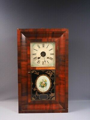 Antique Ansonia Ogee Mantel Clock Clock Rosewood or Mahogany  30 hours WORKS
