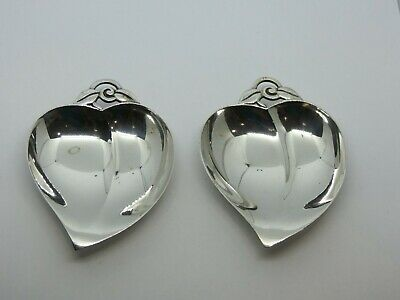 A Pair of TIFFANY & Co. Makers Sterling Silver 22886 Nut Leaf Dishes