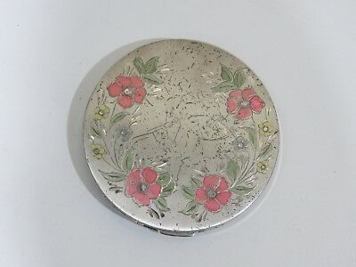Vintage REX STERLING SILVER ART DECO. LARGE COSMETIC/Compact POWDER BOX