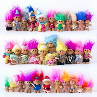 TROLL DOLL COLLECTION 35 Collectable Good Luck Trolls, Vintage, Toys,