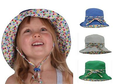 Kids | Girls | Boys | Baby | Toddler Summer Bucket Beach SUN HAT Wide Brim 50+