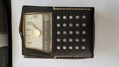 Vintage 1960's RCA Victor Model 3RH 32 Transistor Radio WORKING !!