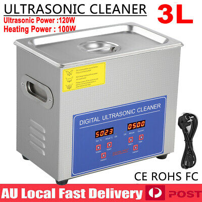 3L Digital Ultrasonic Cleaner Sonic Wave Jewellery Watch Cleaning Heating Timer