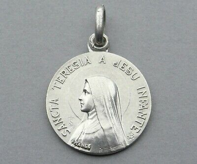 Saint Therese of Lisieux. Antique Religious Pendant. French Medal. By Bernard.