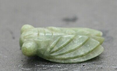 Exquisite Antique Hand Carved Chinese Jade Cicada Beautifully Made c1940s