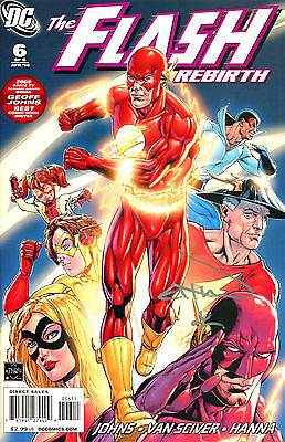 The Flash Rebirth #6 Signed By Artist Ethan Van Sciver