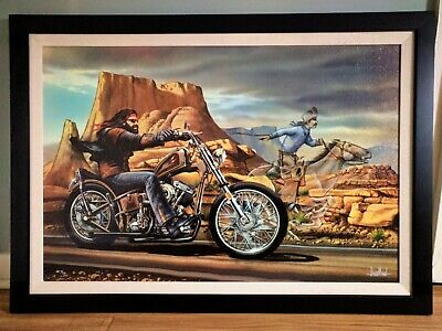 Ghost Rider Signed and Numbered by David Mann on Canvas 9/15