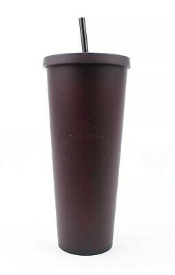 Starbucks Fall 2019 Matte Black Purple Tumbler Cup Halloween Limited Edition