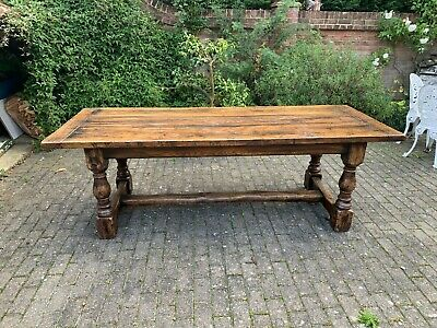 Original Antique Oak Refectory Dining Table
