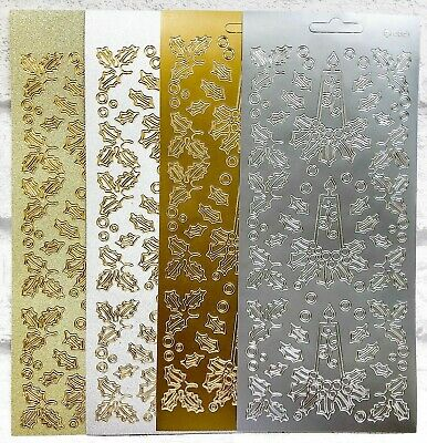 Gold Corners Borders Card Making Peel Offs Scrapbooking