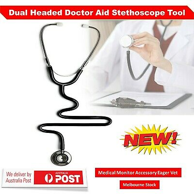Dual Headed Doctor Aid Stethoscope Tool Medical Monitor Accessory Eager Vet