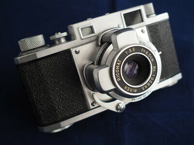 Leica Copy_Ricoh 35_japan camera_RARE PIECE_original case included_Like NEW