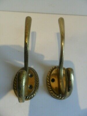 Two Super Quality Brass Coat Hooks