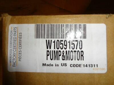 W10591570 OEM Pump And Motor for Whirlpool