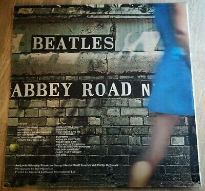 The Beatles LP Abbey Road UK Apple press -2 -1 Misaligned apple Majesty Credit)
