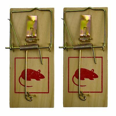 Hardwood Classic Mouse Trap Pest / Vermin Control 2pc Set SIL246