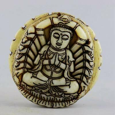 Collectable China Old Jade Carved Thousand-Hand Kwan-Yin Buddhism Decor Pendant