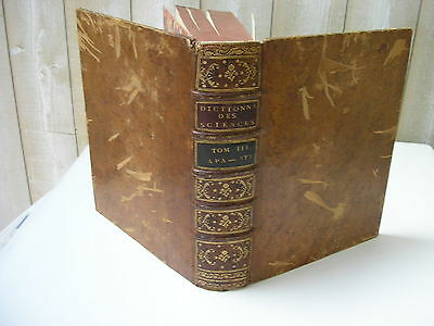 ENCYCLOPEDIE DIDEROT & D'ALEMBERT Tome III 3e édition 1778