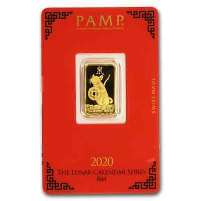 5 gram Gold Bar - PAMP Suisse Year of the Rat (In Assay) - SKU#198746