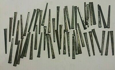 """50 Old Primitive Vintage Stock Hand Forged Iron Salvage Square Cut Nails 1 1/2"""""""