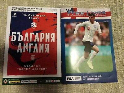 2019 Bulgaria v England (Official Programme & Free Lions).