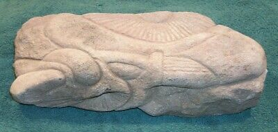 ! Antique Stone Carving Primitive Relic Artifact Sculpture Folk Art Marine Life