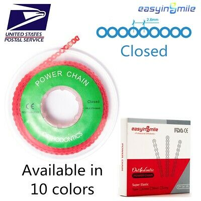 Easyinsmile Dental 1Pc Orthodontic Spool Elastic Rubber Band Closed Power Chains